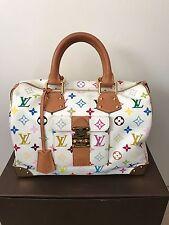 Louis Vuitton Bag Multicolor White Speedy 30 handbag Authentic EUC
