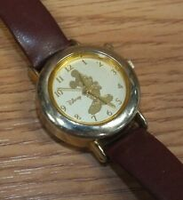 Genuine Disney by SII Mickey Mouse Gold Tone Face Women's Wrist Watch *READ*