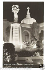 RPPC Real Photo Postcard - 1939 Golden Gate Int'l Expo/GGIE - Rainbow Fountain
