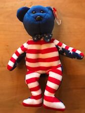 Ty Beanie Baby Babies LIBERTY the Bear New MWMT Blue Faced