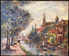 Canal Brussels ? Pointillisme Pointilliste C Maerschalck  Belge ? 1922  Belgien