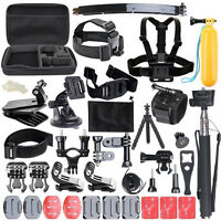 50in1 Pole Head Accessories Kit for GoPro Hero 5 4 3 2 1 Camera Bundle Set Sales
