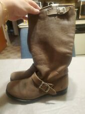 Frye VERONICA Leather Slouch Boots sz 8.5 B Women's Brown # 77618 Engineer Tall
