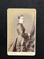 Victorian Carte De Visite CDV Lady: Elliot & Fry: Named Hetty ARNELL 2 Of 2 1878
