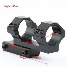 30mm Dual Ring Extend Scope Mount 11mm Rail Rifle Laser Torch Flashlight Install