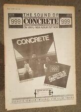 999 Concrete 1981 stampa pubblicitaria Full page 30 x 42 cm mini poster