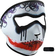 Trickster Joker Clown Neoprene Full Face Mask & Extender For Large XL Head Biker