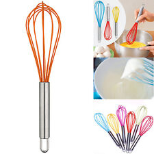 Mini Silicone Whisk Egg Mixer Handheld Beater Handle Cake Perfect Baking Tool