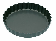 Kitchen Craft Non-stick Loose Base Mini Fluted Flan Tart tins (Set 4) KCMINIFLAN