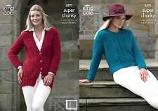 King Cole Knitting Pattern 3571 Super Chunky Ladies Jacket Sweater