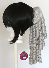18'' Ringlet Curly Pony Tail Clip Silver Gray Cosplay Lolita Wig Clip Only NEW