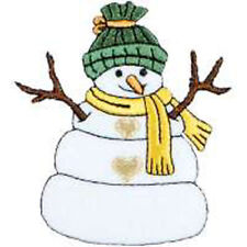 CHRISTMAS EMBROIDERED IRON ON SNOWMAN APPLIQUE 2041-J