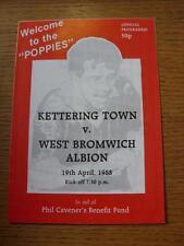 19/04/1988 Kettering Town v West Bromwich Albion [Phil Caveners Benefit] (Item h
