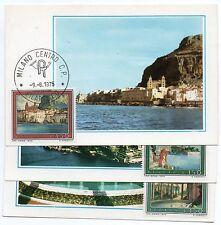 1975 REPUBBLICA SERIE CARTOLINE MAXIMUM FDC TURISTICA C/1848