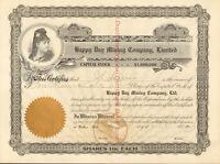 Happy Day Mining Company >1904 Wallace Idaho stock certificate