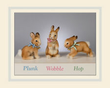 R. John Wright Wobble Standing Bunny Doll Collectible USA Made