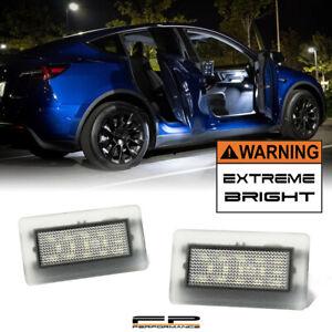 For Tesla S 3 X Y Upgrade Side Door Trunk Interior High Power LED Light Unit 2X
