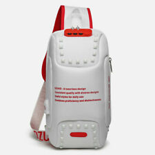Multi-functional chest bag,white-red