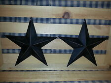"Set of 2 Primitive 8"" Black Barn Star - Decorate, Crafting, Metal, Stars, New"