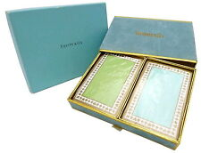 BRAND NEW Tiffany & Co.  Playing Trump Decks Card 2-Set Blue/Green SEALED