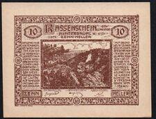 1920 autriche 10 heller notgeld note * gvf * ref 130 *