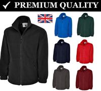 Classic Full Zip Micro Fleece Jacket Casual Work Wear Mens TOP Unisex Womens Men