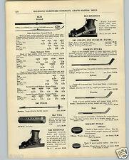 1936 PAPER AD Lovell Hockey Sticks Strand Snow Ski Skis  Champion Sleds Sled