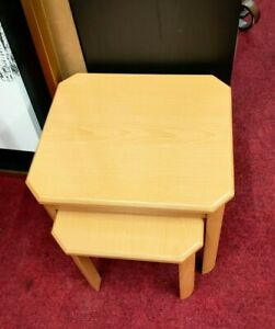 Nest of 2 Small Beech Effect Tables (2338)  **Offer Price**