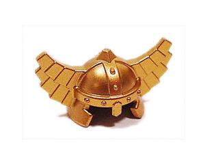 NEW LEGO - Headgear - Castle - Helmet w/ wings Dwarf Metallic Gold - 7036 7979