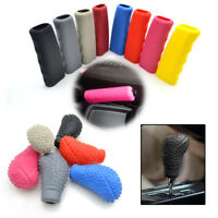 Oval Shaped Silicone Car Gear Shift Knob Boot Parking Handle Hand Brake Cover