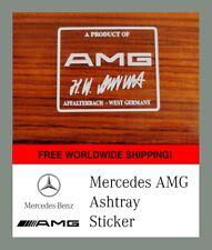 AMG Aschenbecher Aufkleber+ Scalpell w124 w126 w201 w202 w140 SEC R129 Aufrecht