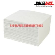 10 x OIL/FUEL ONLY ABSORBENT PADS OIL SPILL PAD HEAVYWEIGHT BOAT BILGE CAR TRUCK