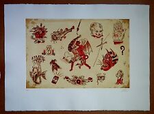 Dr Lakra 2008  Mod.9 etching print original signed artist Mexican demon nude
