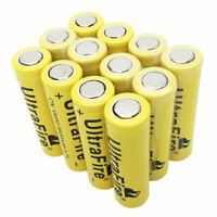 12X18650 Li-ion Battery 9800mAh 3.7V Rechargeable Flat Top for Flashlight Torch