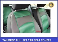 Green Eco-Leather Tailored Seat Covers Nissan Navara 4 NP 300 Double Cab 2015-on