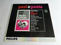 Paul & Paula Sing For Young Lovers LP 1963 Philips Mono Hey Paula Vinyl Record
