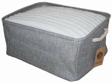ECOHIP Storage Basket or Cloth Storage Bin, Collapsible & Foldable Fabric Cube