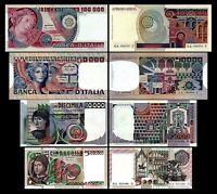 2x  5.000 - 100.000 Lire Serie - Ausgabe 1976 - 1984 - Reproduktion - 04