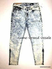 WILLIAM RAST NWT $165 Tony Skinny Zip Jeans WOMENS 29 x 28 Acid Wash Punk Rock