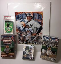 Derek Jeter Collectibles Lot of 5 items PSA 9 Topps RC Card, Rare OYO, 8x10