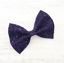Purple sparkly glitter hair bow - Kawaii - Unicorn