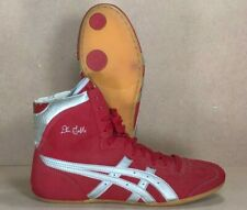 ASICS Dan Gable Classic Wrestling Shoes (2004) Size 8.5 Red Silver Rare Tiger