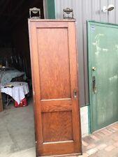 Rd 2 Antique Single Oak 2 Panel Pocket Door