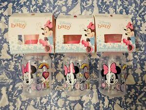 🍼NWT Set Of 3 Disney Baby 5oz Baby Bottles, Silicone, BPA-Free Minnie Mouse