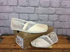 TOMS LADIES UK 4 EU 39 CLASSIC WHITE LACE SHOES FLATS SUMMER HOLIDAYS RRP £44