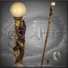 New Wood Crocodile Hand Carved Walking Cane Hiking Stick Staff Wooden Top Knob
