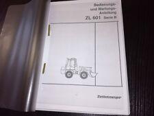 Uso+Instrucciones de mantenimiento Zettelmeyer ZL601B Hidráulico+