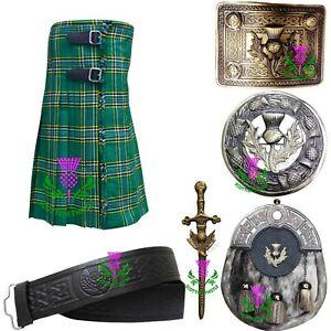 Gamaschen weiß Piper /& Schlagzeuger Schottisch Irish Kilt R817