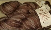 2 SKEINS/HANKS OF (DISC) UNIVERSAL DELUXE WORSTED TONES YARN #348 MULTI COLOR