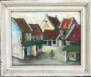 Hanoi ancien street  Orig  oil painting by Nguyen Hoa